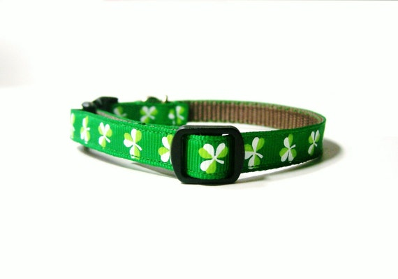 Shamrock Cat Collar with Charm