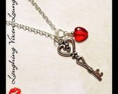 Valentine Jewelry - Valentines Day Jewelry - Valentine Necklace - Key To My Heart Necklace - Skeleton Key Jewelry Love Jewelry Love Necklace