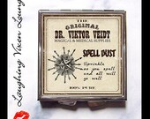 Magic Potion Compact Mirror - Potion Label Spell Dust Compact - Pill Box - Wizard Witch Potion - Magic Spell - Witch Spell