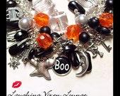Halloween Bracelet - Halloween Jewelry - Halloween Necklace - Haunted House Bracelet - Halloween Charm Bracelet