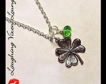 Custom St Patricks Day Jewelry - Custom Four Leaf Clover Necklace - St Patricks Day Necklace - Four Leaf Clover Jewelry - Shamrock Necklace