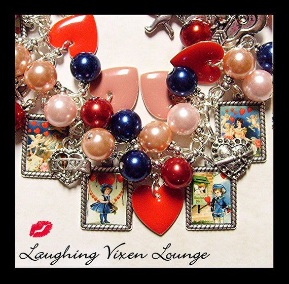 Valentine Jewelry - Valentine Necklace - Valentines Day Jewelry - Be Mine Valentine Bracelet Full Photo - Valentines Day Necklace