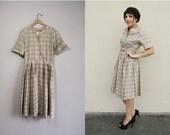 Vintage Dress / Silk Dress / Day Dress / 1950s