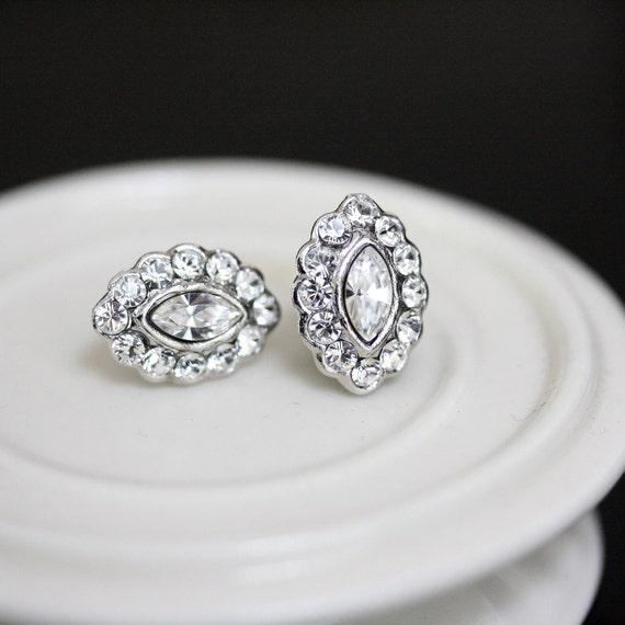 Wedding Earrings, Crystal Studs, Small bridal earrings, Swarovski Earrings, Wedding Jewelry, MAE studs