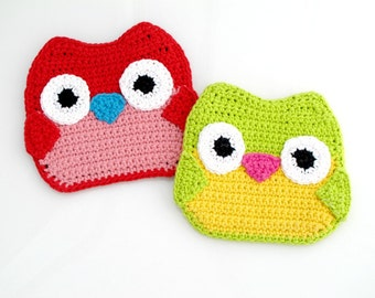Owl Hot Pad Pattern. Easy. Cute.