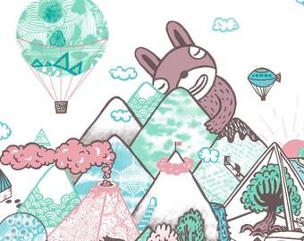 My imaginary lands - A1 Original limited edition silk screen print