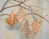 Christmas Ornament Sheet Music Ornament Set of 4