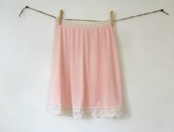 Vintage 1960s Slip M Pink Half Slip Olga Lace