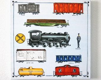 My Favortite Train - LARGE Original painting
