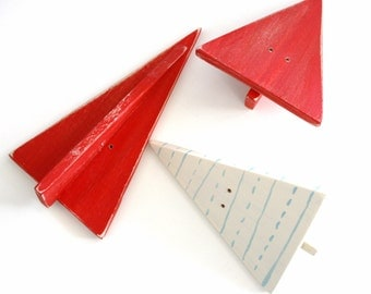 Hawk's Paper Airplanes Mobile by Marnie Vollenhals