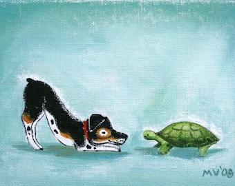 An Imaginary Race - PRINT large size 11x14, turtle print