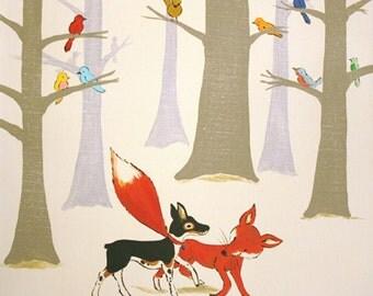 """Wild Bird Forest - PRINT 12x12"""""""