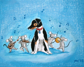 Hawk and the Mouse Band- PRINT