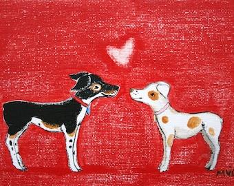 Valentine Print, You are Beautiful- PRINT, heart print, dog print