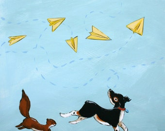 Yellow Paper Airplanes - PRINT