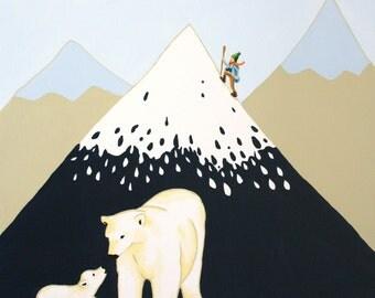 Polar Mountain- Print, art for kids