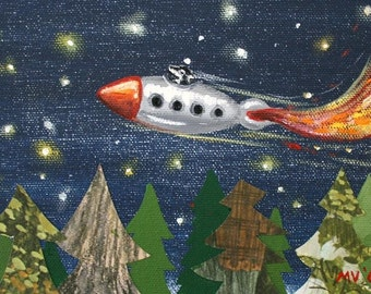 "Rocket Pines-PRINT 8x10"""