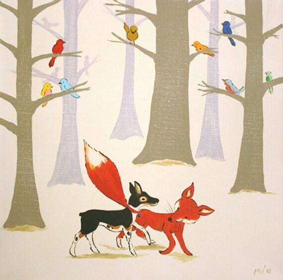 Wild Bird Forest - PRINT