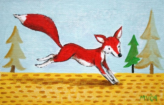 The Tale of Red Red Fox- PRINT