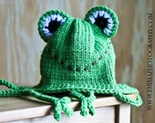 Earflap Frog Hat with Feet, toddler (12 mos.- 2T)