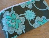 Final Holiday Sale-FULL Size- LOW SHIP- Night Lotus Zipper Pouch