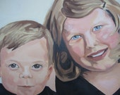 RESERVED 8 x 10 Custom Oil Portrait for erinmaryg - deposit