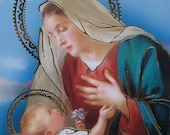 Prayer Cards Made In Italy 4 Holy Prayer Cards Of Jesus And Mary  Sheet D