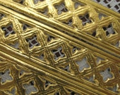 Dresden Trim Made In Germany Fancy Gold Foil Openwork Paper Lace  DFW 252 AG