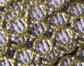 2 Yards Delicate Narrow Metallic Trim In Lavender And Gold
