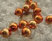 12 Glass Garland Beads Czech Republic Christmas Garland Beads 12mm Copper
