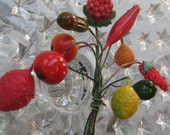 Vintage Cluster Of Millinery Fruit From Germany And Japan 1950s  Group CC