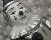 Made In Germany Vintage Pierrot Clown Blown Glass Christmas Ornament