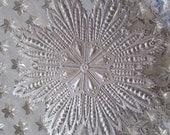 Dresden Trim  Large Silver Snowflake Made In Germany Die Cut Christmas