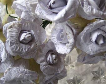 Paper Flowers 24 Palest Violet Millinery Roses