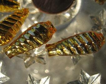 10 Fancy Mercury Glass Christmas Garland Beads Handmade In Czech Republic  001