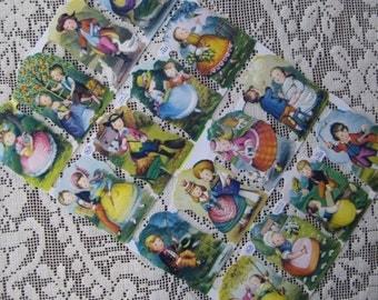 Made In England Die Cut Paper Scraps Vintage Children  1423
