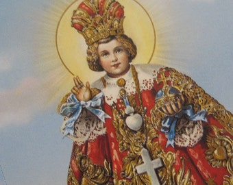Made In Italy 4 Holy Prayer Cards Of Mary Jesus Infant Of Prague  Sheet M
