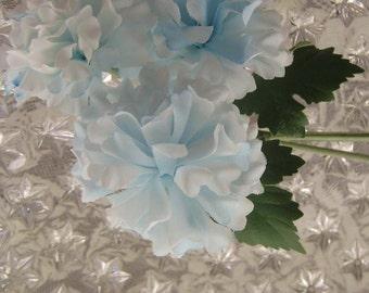 Vintage East Germany 3 Fabric Millinery Chrysanthemum Flowers Cluster
