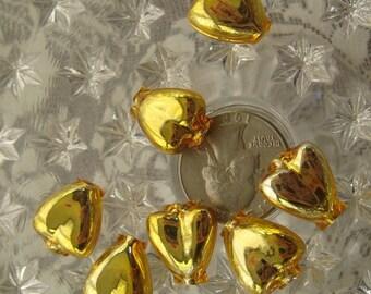 7 Fancy Mercury Glass Christmas Garland Gold Beads Handmade In Czech Republic