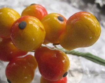 Millinery Fruit 10 Spun Cotton Pears Germany