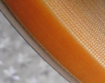 3 Yards Plush Velvet Ribbon in Orange .375 Inch Wide 3/8 Inch Wide