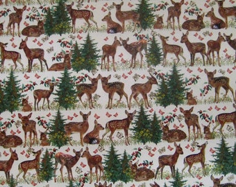 Made In Germany Christmas Paper Deer And Reindeer Forest Design