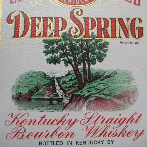 4 Vintage 1930s Kentucky Whiskey And Missouri Tobacco Paper Labels