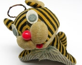 Vintage Velveteen TIGER Angel PIN CUSHION Jointed