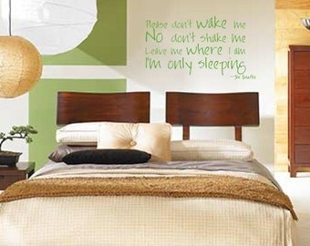 Only sleeping The Beatles vinyl wall decal art quote home decor