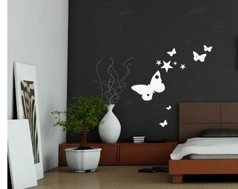 Butterflies and Stars wall decal