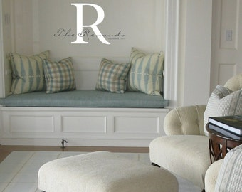 Family name and monogram wall decal