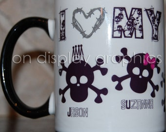 Personalized Skull Family Coffee Mug Cup