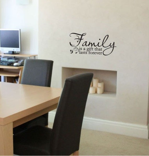 Family is a gift that lasts forever vinyl wall decal quote art sticker