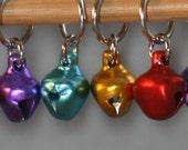 Jingle Bell Rocks Stitchmarkers, set of TEN (10)